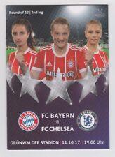 Orig.PRG   Frauen Champions League  2017/18  BAYERN MÜNCHEN - FC CHELSEA  !!