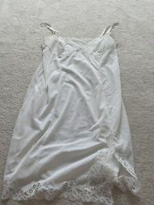 Vintage Slip Dress Fairy Y2k White Lace Size S/M