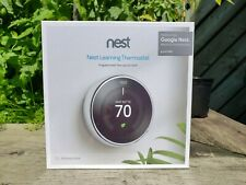 Nest 3rd Generation Learning Polished Steel Programmable Thermostat