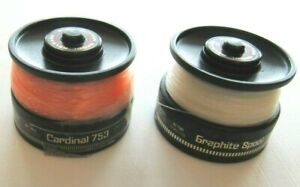 2 Vintage Cardinal Garcia 753 Extra Spools with Line