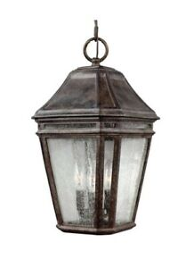 Feiss OL11311WCT Londontowne 3 Light 10 inch Weathered Chestnut Outdoor Pendant