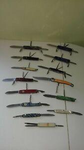 Lot de 14 Couteaux pliants multifonctions divers, Pradel Facosa, Victorinox