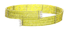 Iridescent 7 Row Lime Green Beads Stranded Choker Necklace(Zx8/145)