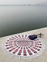 Indian Mandala Cotton Beach Throw Wall Hanging Handmade Yoga Mat Tapestry Decor
