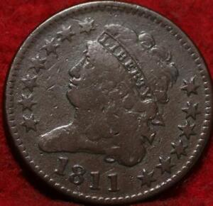 1811 Philadelphia Mint Copper Classic Head Half Cent 13 stars