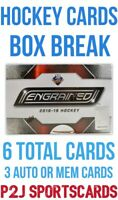 Upper Deck 2018/19 Engrained Hockey CARD Box BREAK🏒1 RANDOM TEAM🏒Break 3864