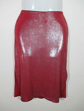 Dotti Womens Size 8 Skirt, Pearlescent,wet look red shiny dressy evening club Z1