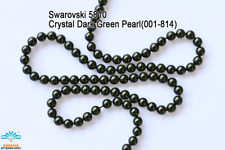 50 Beads Swarovski #5810 Crystal Dark Green Pearl 001-814
