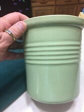 Brand New The Pampered Chef Stoneware Bread Baking Crock Green No Box