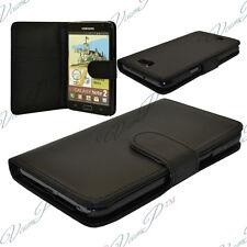 Etui Housses Coque Portefeuille Cuir NOIR Samsung Galaxy Note 2 N7100/ N7105
