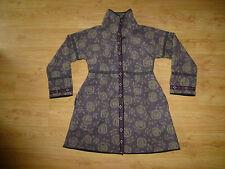 Women's Gudrun Sjoden Multi Floral Funnel Neck Wool Blend Felt Coat Size L UK 14