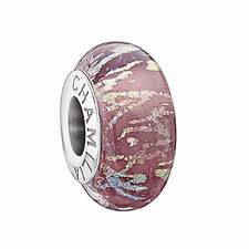 Chamilia argento Sterling Fascino Charm Bead Di Vetro di Murano Blush 2116-0094 RRP £ 38