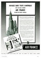 Publicité ancienne voyage Air France 1954 issue de magazine