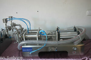 two nozzles full  pneumatic liquid filling machine 100-1200ml for liquid, juice