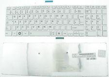 TOSHIBA SATELLITE PRO C850 C855 C850D C870 L850 L855 UK KEYBOARD WHITE FRAME F67