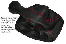 RED STITCHING FITS SEAT INCA 1995-2003 LEATHER GEAR GAITER ONLY