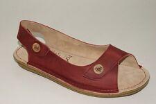 PO ZU SANDALS Hop Leather Cherry Size 37 US 6 Ladies Eco - Shoes NEW