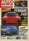 AUTO HEBDO n°584 du 29 Juillet 1987 GP ALLEMAGNE FERRARI F50 BMW 750i