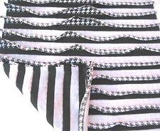 C21 Negro Blanco doble capa plisado con flecos Jacquard JERSAY Hecho en Italia