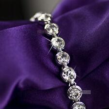 18k white gold plated made with SWAROVSKI crystal tennis bracelet fashion chain