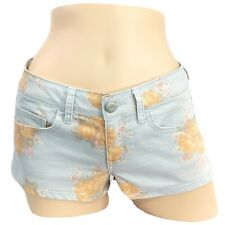 American Eagle AEO l Pastel Floral Print Low-Rise Stretch Shortie Denim Shorts 8