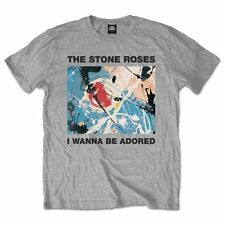 The Stone Roses T Shirt I Wanna Be Adored Officially Licensed Mens Grey Tee. NEW