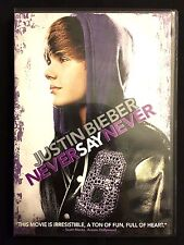 Justin Bieber: Never Say Never (DVD, 2011) WORLDWIDE SHIP AVAIL