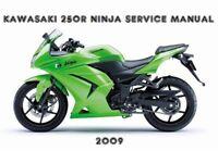 Kawasaki 250R Ninja EX 250 Service Repair Maintenance Rebuild Manual 2009