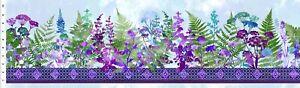 Haven Border Purple by Jason Yenter for In the Beginning 1/2 Yard 1HVN3