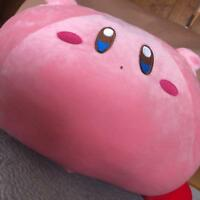 Used Kirby Manpuku Mochi Mochi Stuffed Super Soft Big Plush Doll Cushion Anime