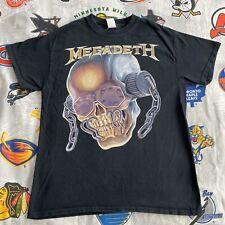 MEGADETH T-Shirt Black Men's M VTG 90s metal concert tour shades headphones