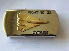 BOUCLE CEINTURE DE PILOTE DE CHASSE USAF USAAF FIGHTING 32 GYPSIES