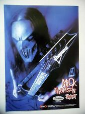 PUBLICITE-ADVERTISING :  Guitare IBANEZ  12/2004 Mick Thomson,Slipknot