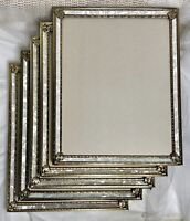 Set of 5 VTG Gold Metal Faux Mother of Pearl Inlay 8x10 Picture Frame Lot MCM
