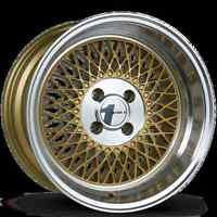 Avid1 AV18 15X8 Rim 4x100 +25 Gold Wheels Fits Integra Civic Miata E30 Fox