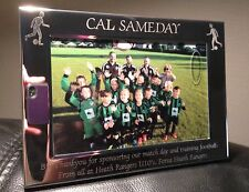 "Personalised Engraved Silver Plated Photo frame 6"" x 4"" - Football Team Gift"