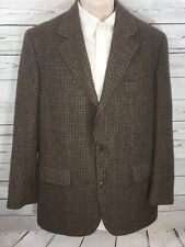 Brooks Brothers Camel Hair Sport Coat Blazer Jacket 41 Long - Brown/Blue Plaid