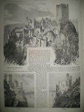 CHATEAUX ALSACE RIBEAUPIERRE JOUTES SEINE GUERRE AMERIQUE BULL-RUN GRAVURES 1861