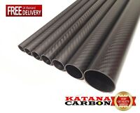 Matt 1 x 3k Carbon Fiber Tube OD 8mm x ID 6mm x 1000mm (1 m) (Roll Wrapped)