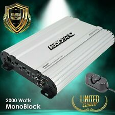 Audiobank Monoblock 2000 WATTS Amp Class AB Car Audio Stereo Amplifier P2001
