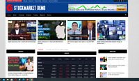 Stock market news & Guides / Affiliate product website,100% automated website