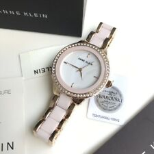 Anne Klein Watch * 1418RGLP Mother of Pearl Pink Ceramic & Rose Gold Watch