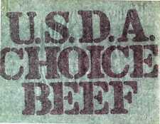 Iron on t shirt transfer 70s - USDA Choice Beef