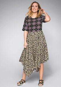 NEU & EDEL Marken Sommer-Kleid von Sheego, Gr. 48 taupe