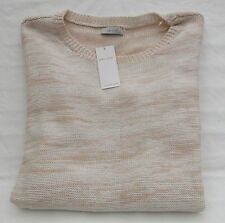 LADIES MARKS AND SPENCER PER UNA DUSTY PINK MIX CABLE DESIGN JUMPER SIZE 16