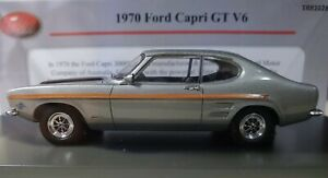 A new TRAX 1:43 Scale Resin Model of a 1970 Ford GT V6 Capri in Silver TRR102B