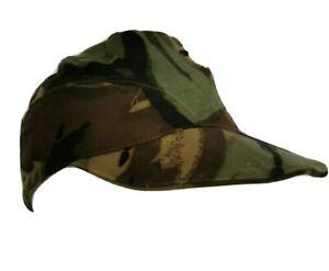 Vintage British Army Woodland Camouflage DPM Soft Hat Crap Hat