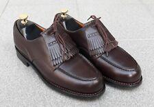 J.M.WESTON 641 - Golf U-tip leather Derby shoes . Size 8 E