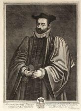 VINCENS BOYER EGUILLES PROVENCE PARLEMENT - Incisione Originale Coelemans 1700