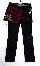 Coole SexPot ReVeNGe-Hose im Damaged-Stil mit kariertem Rockteil Rock Punk  Japan f38171343f
